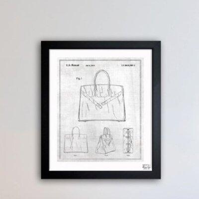 Oliver Gal Birkin Handbag 2009 Framed Graphic Art