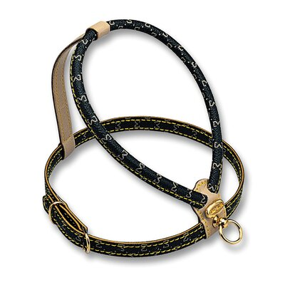 PetEgo Elegance Dog Harness with Embossed Monogram in Black