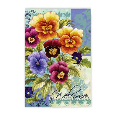 Pansy Time Garden Flag