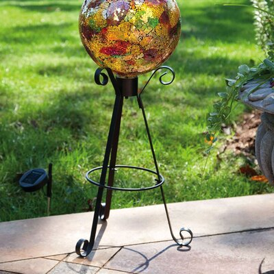 Evergreen Flag & Garden Tall Solar Gazing Ball Stand