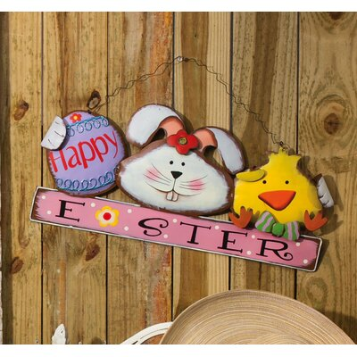 Easter on Parade Happy Easter Chick and Bunny Wall Decor