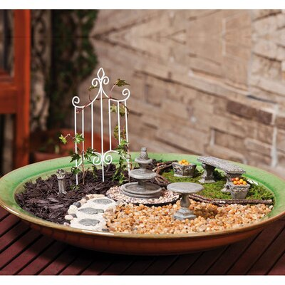 Fairy Mini Garden Furniture Statue (Set of 10)