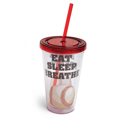 Eat Sleep Breathe Baseball Insulated Cup