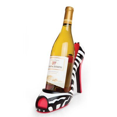 Zebra High Heel Wine Bottle Holder