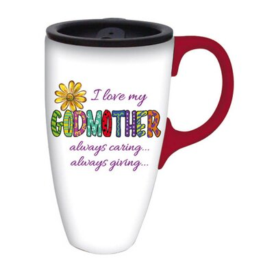 I Love My Godmother Latte Travel Mug
