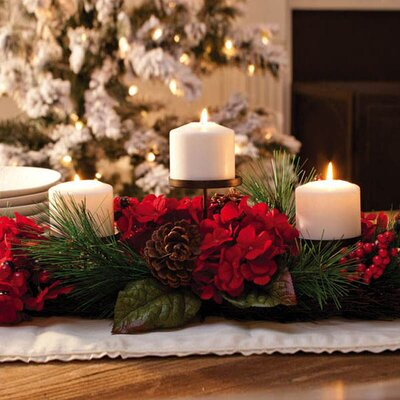 Cypress Home Holiday Elegance Triple Candle Holder