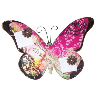 Cypress Home Spring Inspirations Metal Butterfly Memo Board