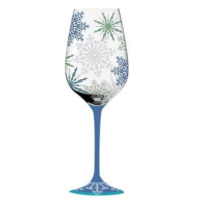 Cypress Home Holiday Elegance Handpainted Wine Glass