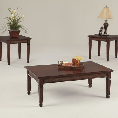 Kingston Isle 3 Piece Coffee Table Set