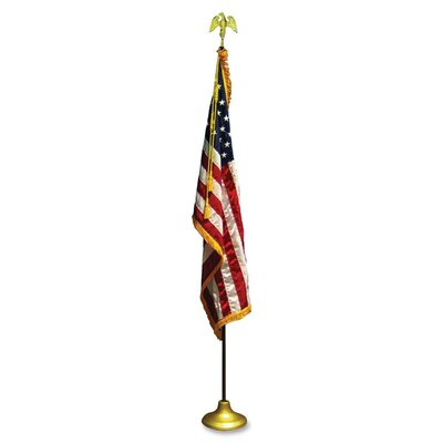 Chicago Flag and Decorating Company American Traditional Flag and Flagpole Set