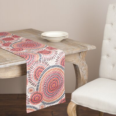 Saro Embroidered Circle Runner