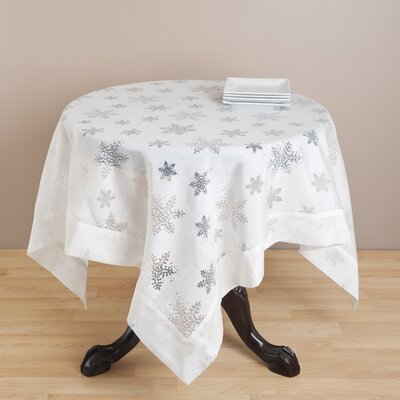 Saro Burnout Snowflake Table Cloth