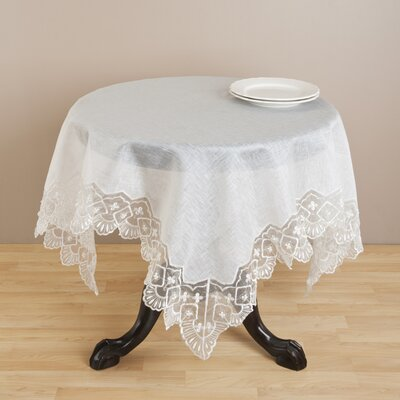Saro Embroidered and Hand Beaded Table Cloth
