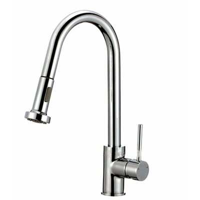Kokols Single Handle Single Hole Kitchen Faucet with Pull Out Spray