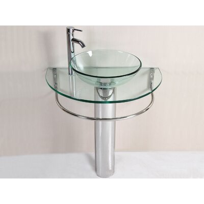 Kokols Pedestal Sink Bathroom Vanity Set