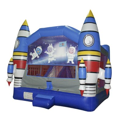 JumpOrange Space Adventure Mega Inflatable Commercial Grade Bouncy House and Slide Combo