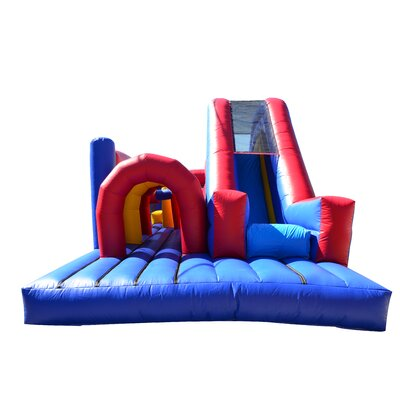 JumpOrange Rainbow Xtreme Inflatable Commercial Grade Obstacle Course