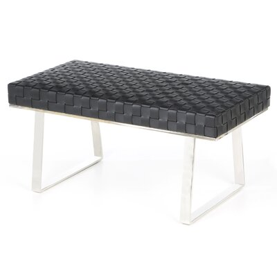 Nuevo Karlee Jr. Leather Bench