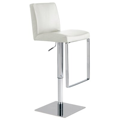Nuevo Matteo Adjustable Bar Stool in White