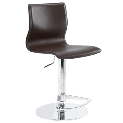 Nuevo Weston Adjustable Bar Stool in Brown