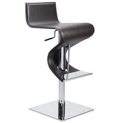 Nuevo Portland Adjustable Bar Stool in Brown