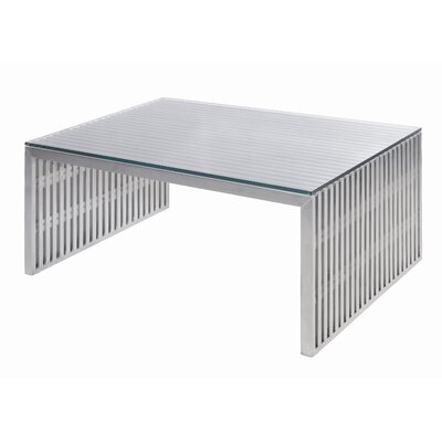 Nuevo Amici Coffee Table with Tempered Glass Top