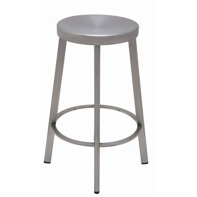 Nuevo Industry Counter Stool in Silver
