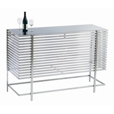 Nuevo Delfina Bar Table in Black / Stainless Steel