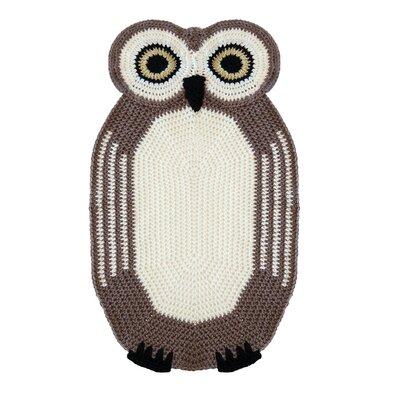 Peanut Butter Dynamite Crochet Owl Kids Rug
