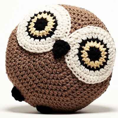Crochet Acrylic Owl Pillow