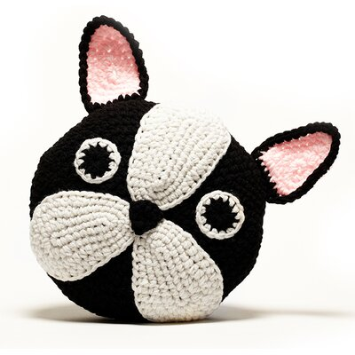 Crochet Acrylic Boston Terrier / Frenchie Pillow