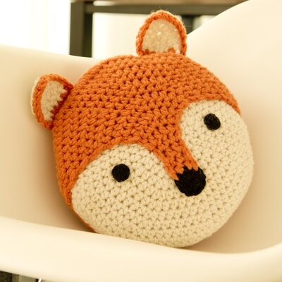 Peanut Butter Dynamite Crochet Acrylic Fox Pillow