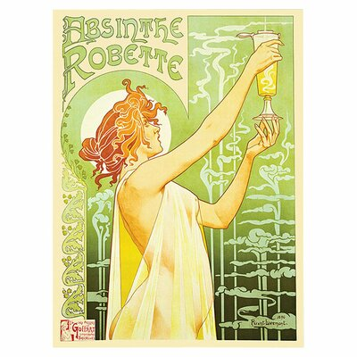 "<strong>Trademark Fine Art</strong> Absinthe Robette by Privat Livemont, Traditional Canvas Art - 24"" x 18"""