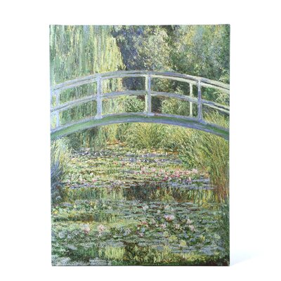 Trademark Fine Art The Waterlily Pond by Claude Monet Canvas Art