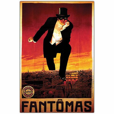 Fantomas, Traditional Framed Canvas Art - 24
