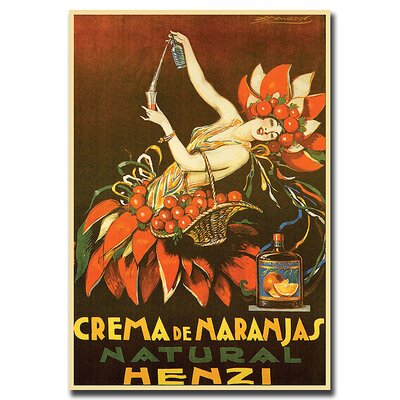 "Trademark Fine Art Crema de Naranjas Natural Henzi by Achille Mauzan, Traditional Canvas Art - 18"" x 24"""