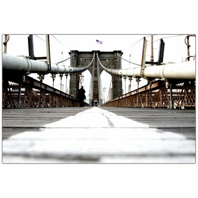 "Trademark Fine Art Brooklyn Bridge by Yale Gurney, Traditional Canvas Art - 32"" x 24"""