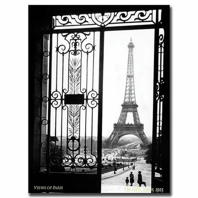 "Trademark Fine Art ""Views of Paris"" by Sally Gall Photographic Print on Canvas"