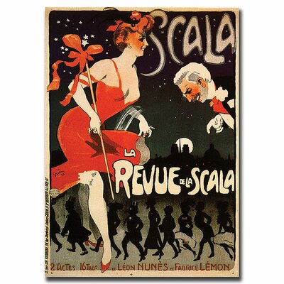 "Trademark Fine Art Le Revue de la Scala, Traditional Canvas Art - 32"" x 24"""