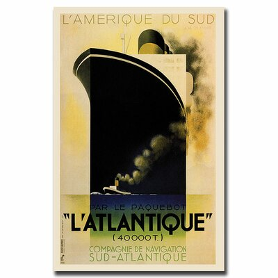 "Trademark Fine Art L'Amerique de sud L'Atlantique, Traditional Canvas Art - 37"" x 49"""