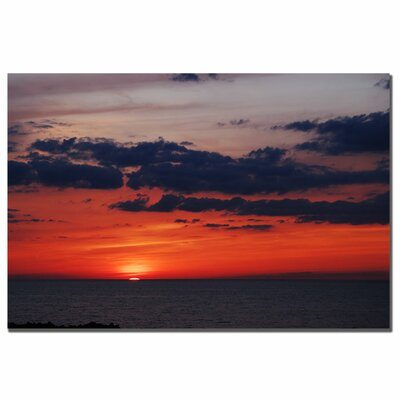 "Trademark Fine Art Great Lake Sunset Landscape by Kurt Shaffer, Canvas Art - 16"" x 24"""