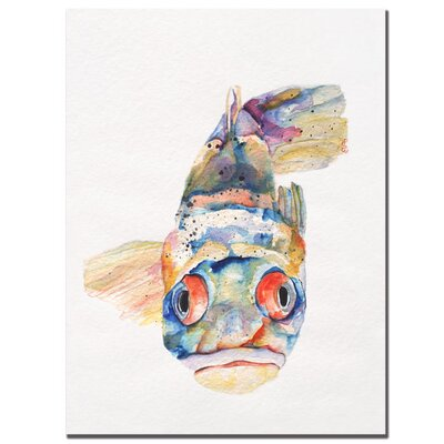 "Trademark Fine Art Blue Fish by Pat Saunders-White, Canvas Art - 24"" x 18"""