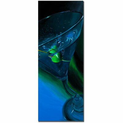 "Trademark Fine Art Bluetini by Roderick Stevens, Canvas Art - 32"" x 12"""