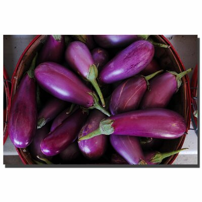 "Trademark Fine Art Eggplant Basket by Kurt Shaffer, Canvas Art - 24"" x 36"""