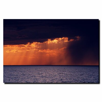 "Trademark Fine Art ""Passing Storm"" by Kurt Shaffer Photographic Print on Canvas"