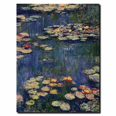 "Trademark Fine Art Water Lilies by Claude Monet - 32"" x 24"""