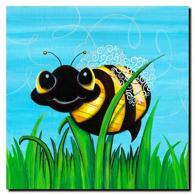 "Trademark Fine Art Bee at Play by Sylvia Masek, Canvas Art - 14"" x 14"""