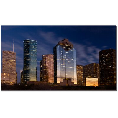 Trademark Art Houston, TX by Yakov Agani Canvas Art