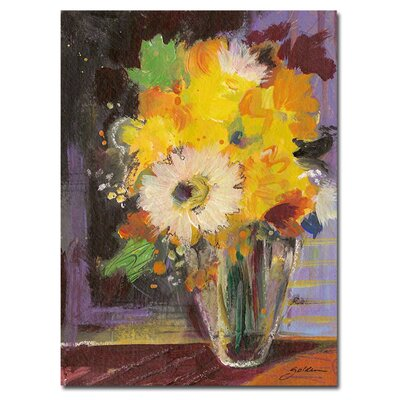 Trademark Fine Art Glass Vase by Sheila Golden Canvas Art