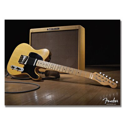 Trademark Fine Art Telecaster and the Blues Canvas Wall Art